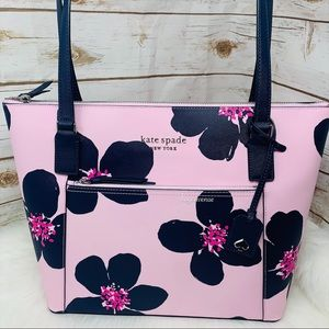 Kate spade Cameron pocket tote grand flora pink